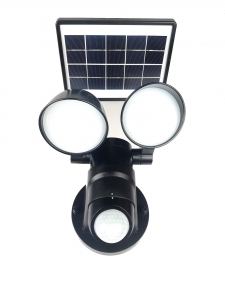Lampa solarna, 2 ruchome głowy, 80 Led, 2200mAh, 800 Lm.