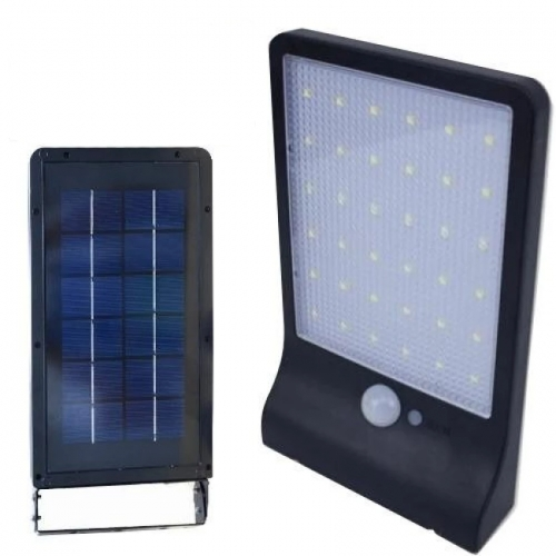 Lampa Solarna 20w 42 Led Czujnik Ruchu I Zmierzchu 3 Tryby Pracy